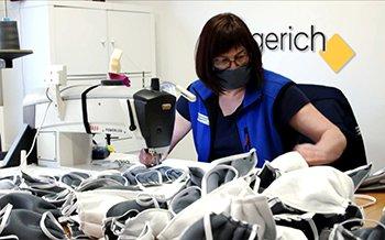 Die Näherinnen und Näher produzieren jetzt Gesichts-Masken.
